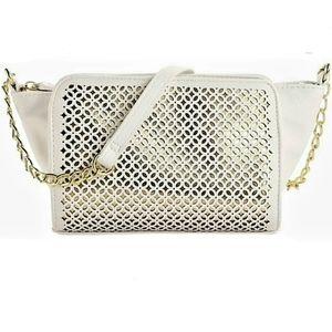 JESSICA SIMPSON 'Judith' white/gold crossbody bag
